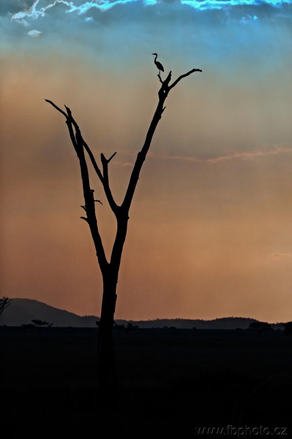 Hra barev při západu slunce